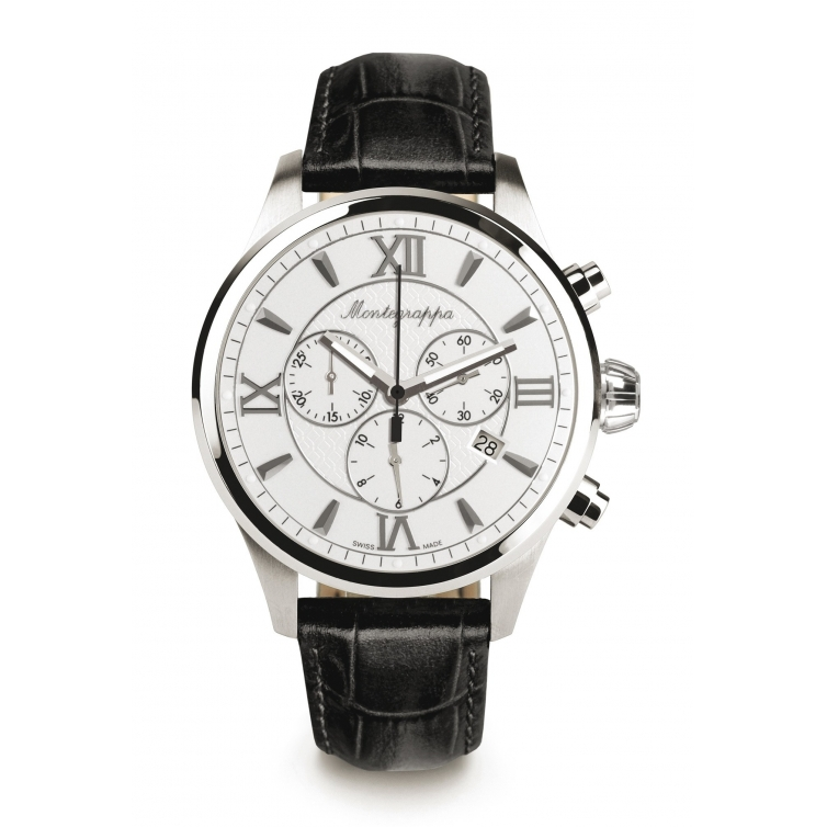 Fortuna Chronograph 42 mm Watch White MONTEGRAPPA - 1