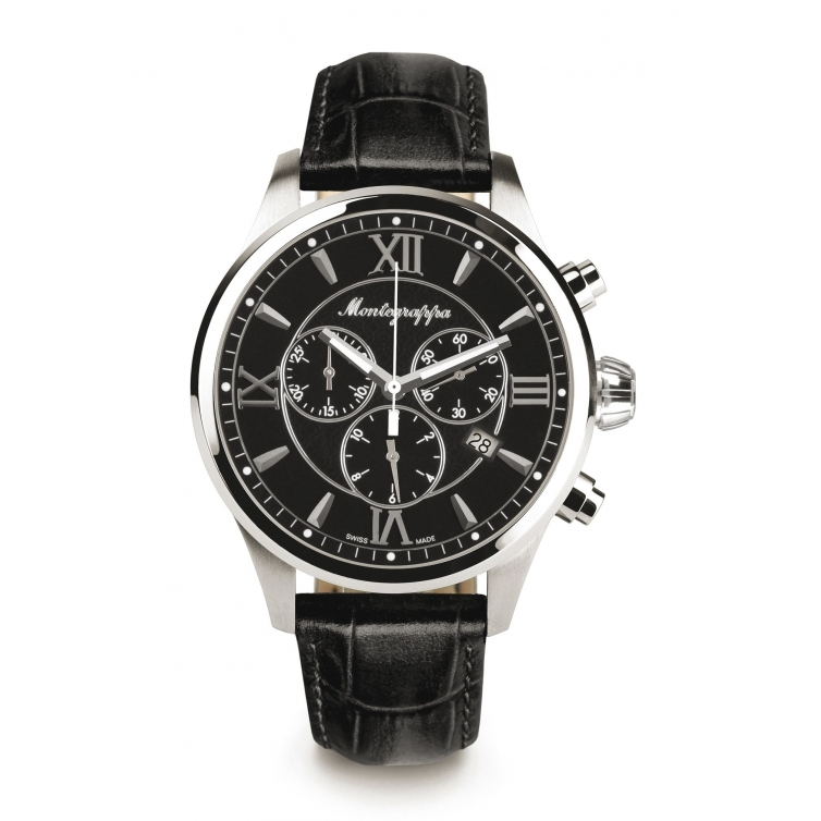 Fortuna Chronograph 42 mm Watch Black MONTEGRAPPA - 1