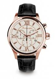Fortuna Chronograph 42 mm Watch Rose Gold white MONTEGRAPPA - 1