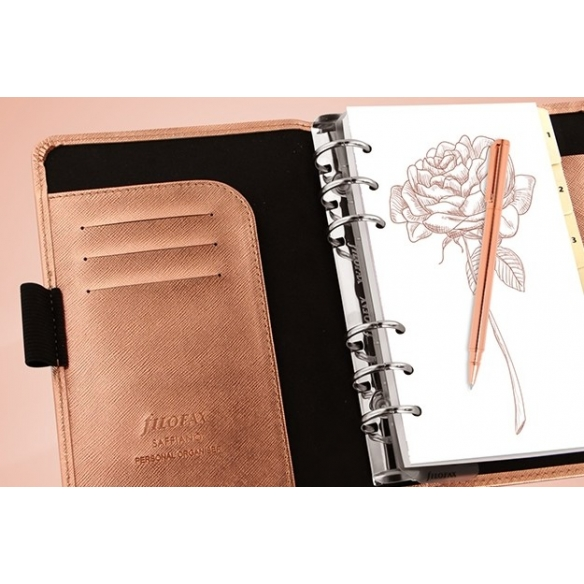 Saffiano Organiser Personal Rose Gold FILOFAX - 5