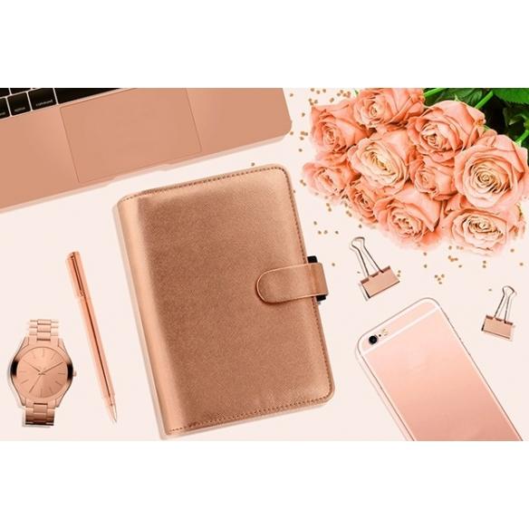 Saffiano Organiser Personal Rose Gold FILOFAX - 6