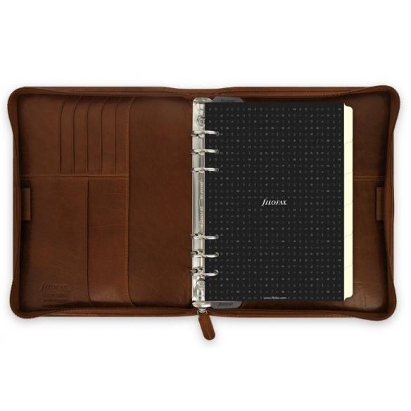 Lockwood Zip A5 Organiser brown FILOFAX - 3