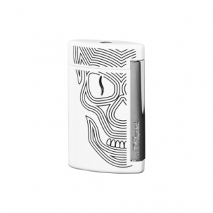 Minijet White Skulls Lighter