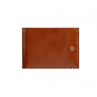 Line D Brown Billfold for 6 Credit Cards S.T. DUPONT - 1