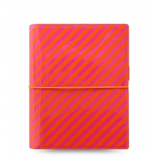 Domino Patent Organizer A5 Orange/Pink Stripes FILOFAX - 1