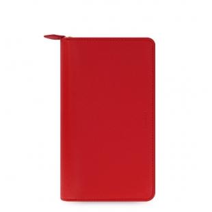 Saffiano Diář na zip Compact červená FILOFAX - 1