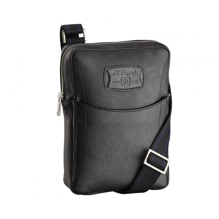 Line D Soft Diamond Grained Small Cross Shoulder Bag S.T. DUPONT - 1