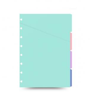Filofax Notebook A5 Pastel Coloured Indices FILOFAX - 1