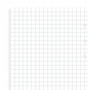 Čtverečkované papíry, náhradní náplň Clipbook osobní FILOFAX - 1