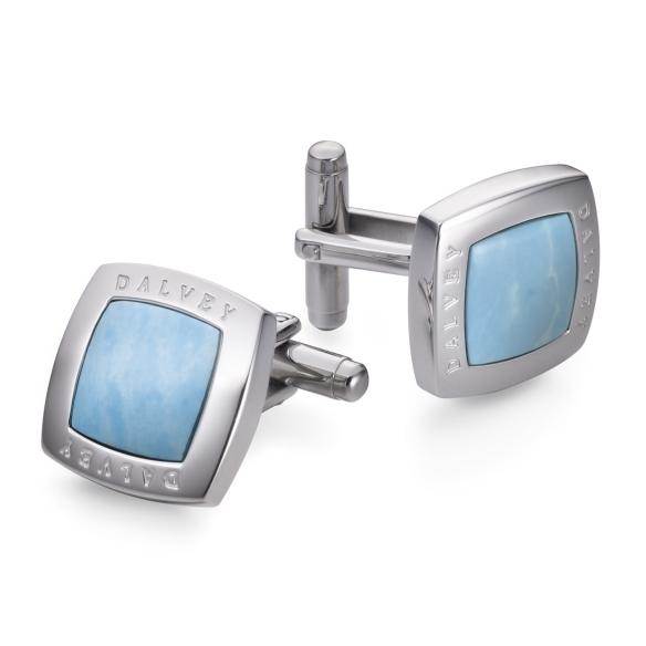 Quadrille cufflinks turquoise DALVEY - 1