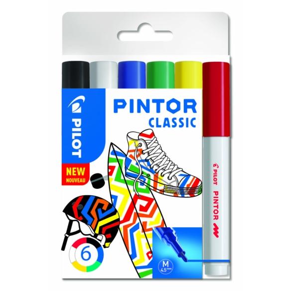 Pintor dekoratívny popisovač set Classic 6 ks 4,5 mm PILOT - 1