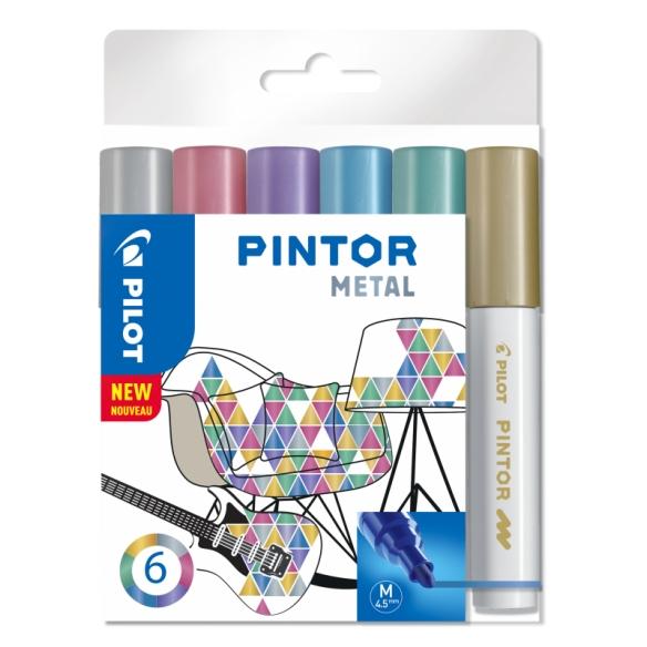 Pintor dekoratívny popisovač set Metal 6 ks 4,5 mm