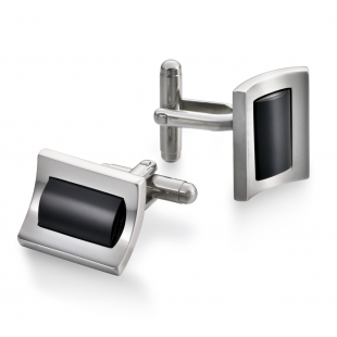 Mariner cufflinks black onyx
