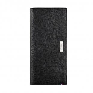Line D Soft Diamond Grained leather vertical billfold large black S.T. DUPONT - 1