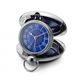 Voyager travel clock blue