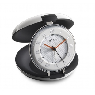 Capsule travel clock black