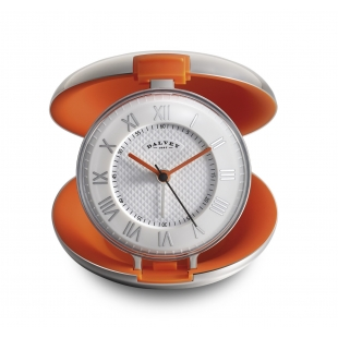 Capsule travel clock orange