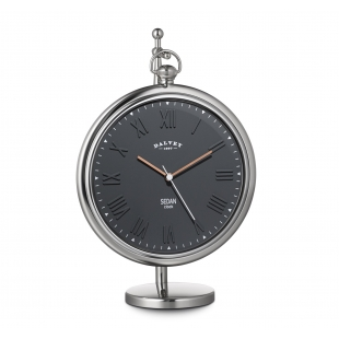 Sedan desk clock grey