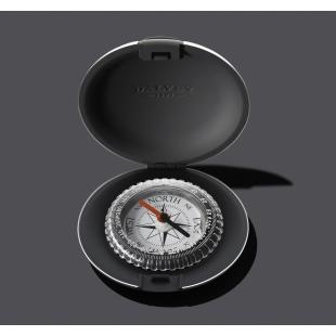Vreckový kompas čierny