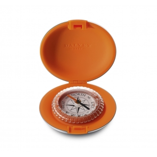 Pocket compass orange