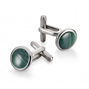 Button Cuff links malechite