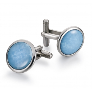 Discus Cuff links turquoise