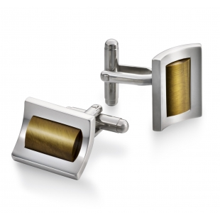 Marine Cuff links tiger's eye