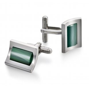 Marine Cuff links malechite