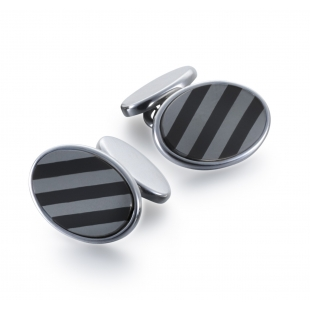 Repp Cuff links black onyx...