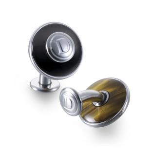 Duo manžetové gombíky s čiernym ónyxom a tigrím okom DALVEY - 1