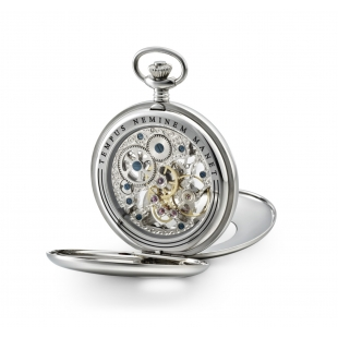 Skeleton pocket watch and...