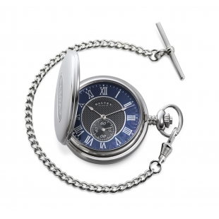 Full Hunter pocket watch Black mother of pearl DALVEY - 1