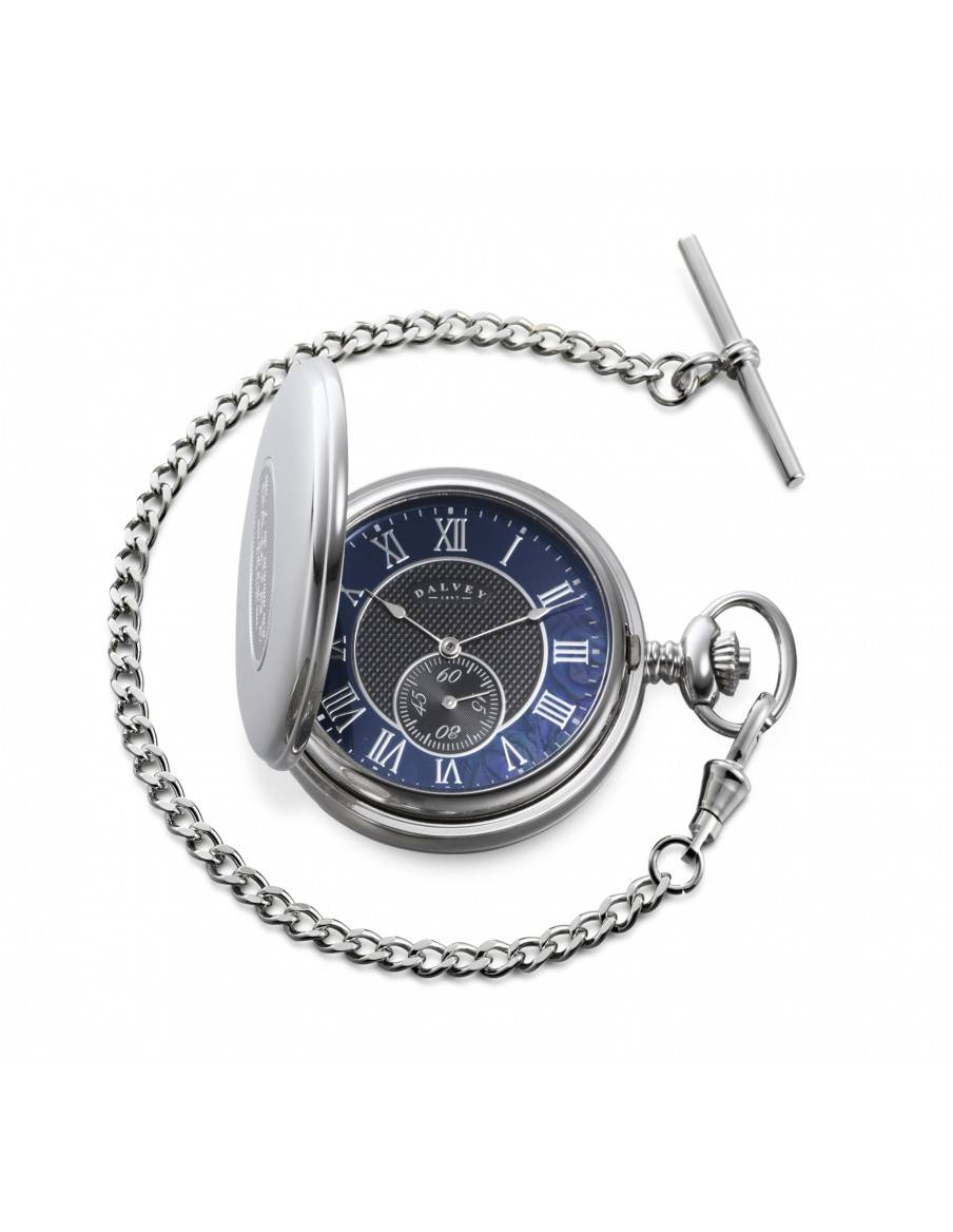 Full Hunter pocket watch Black mother of pearl