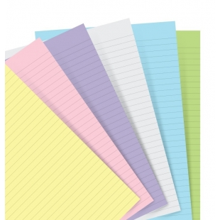 Pastel ruled notepaper...