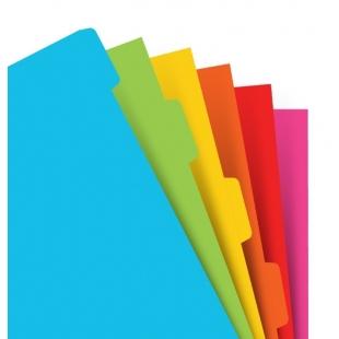 Plnobarevné rozřazovače pro A5 diáře FILOFAX - 1