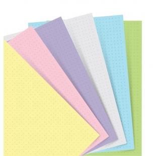 Pastelové Puntíkaté papíry pro A5 diáře FILOFAX - 1