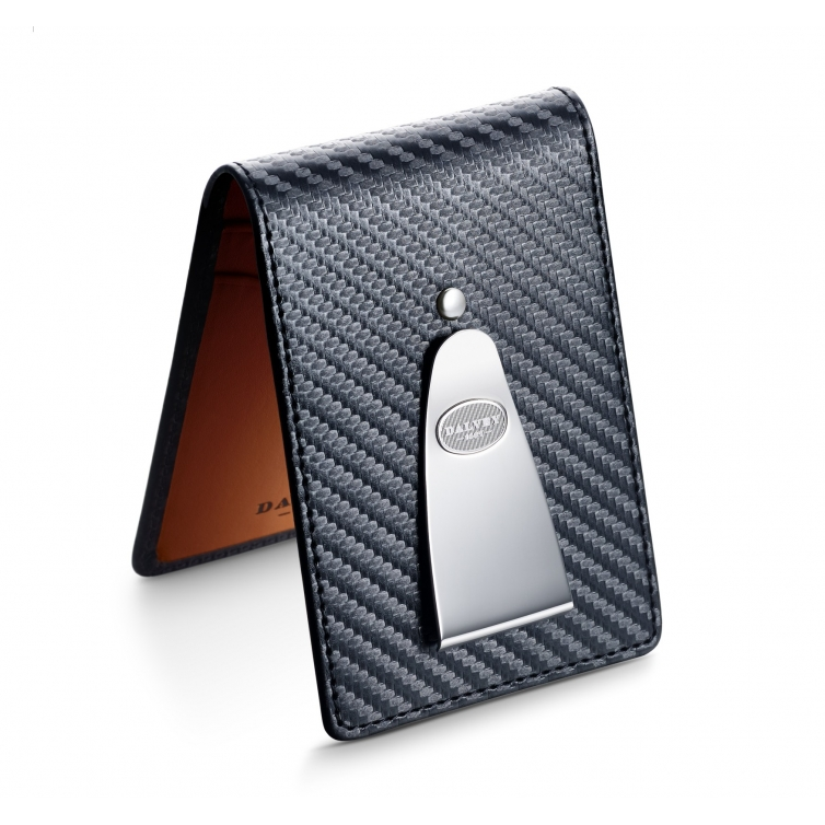 Insignia wallet Black Carbon Fibre with Orange DALVEY - 1
