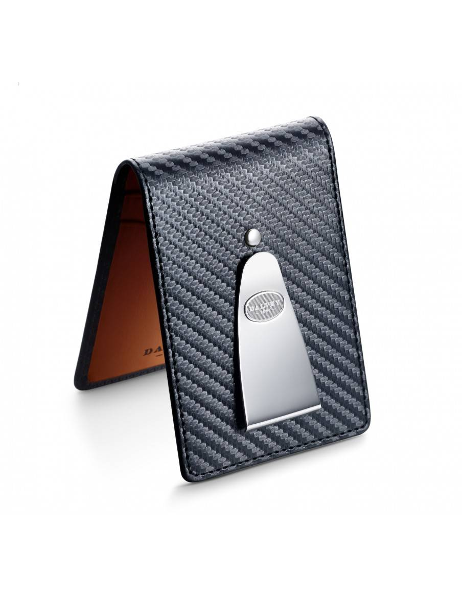 Insignia wallet Black Carbon Fibre with Orange