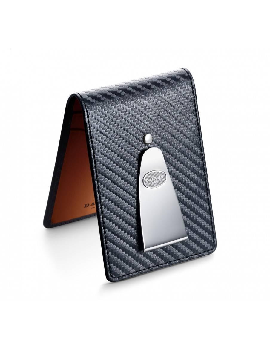 Insignia wallet Black Carbon Fibre with Orange