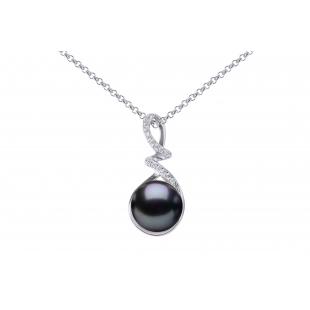 Perlový prívesok čierny