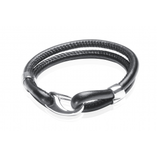 Eco leather bracelet black