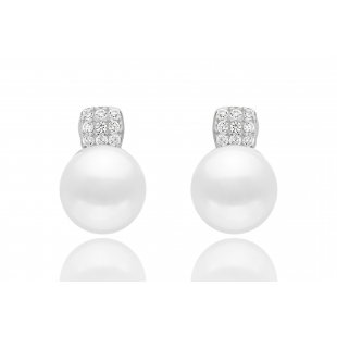 Pearl earrings whit zircon...