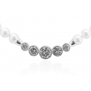 Pearl necklace with zircon...