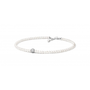 Pearl bracelet with zircon...