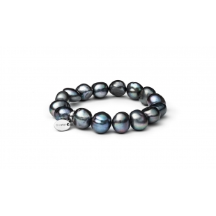 Pearl bracelet black