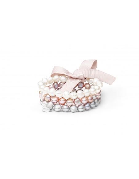 Three-row pearl bracelet multicolor