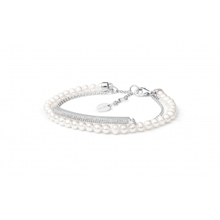 Pearl bracelet with chain...