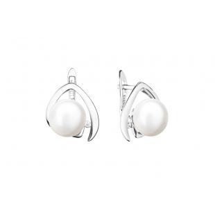 Perlové náušnice biele