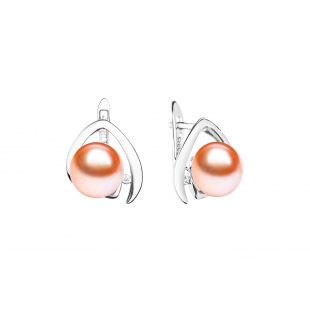 Pearl earrings pink