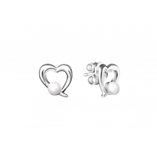 Heart-shaped pearl earrings...